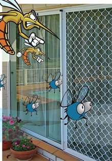 Mavi Sineklik, Sineklikci , kedi için sineklik, plise sineklik, sineklik,